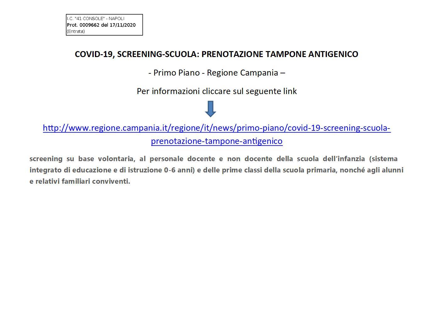 Per approfondimenti sul sito della Regione Campania  cliccare qui